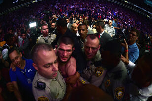 WATCH: All hell broke out last night after Khabib def McGregor at UFC 229