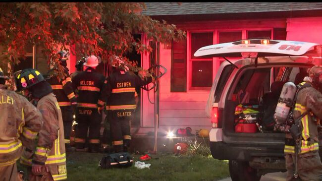 House fire at  307 Sycamore Boulevard in Huxley. Photo WHO TV