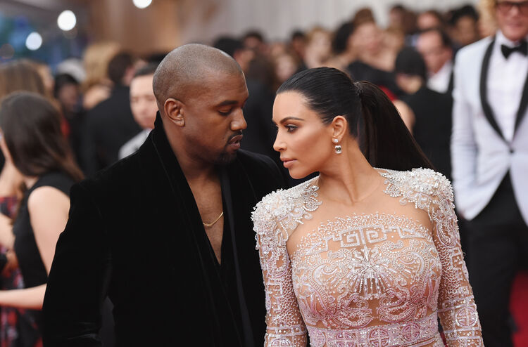 China: Through The Looking Glass' Costume Institute Benefit Gala - Alternative Views NEW YORK, NY - MAY 04: Kanye West (L) and Kim Kardashian attend the 'China: Through The Looking Glass' Costume Institute Benefit Gala at the Metropolitan Museum of Art on May 4, 2015 in New York City. (Photo by Mike Coppola/Getty Images)