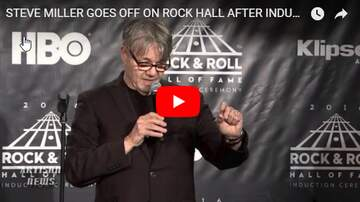 Tony TNT Tilford - Steve Miller disses on the Rock Hall