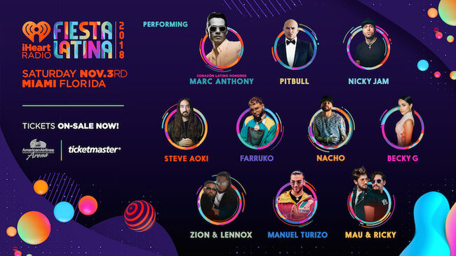 2018 iHeartRadio Fiesta Latina Lineup