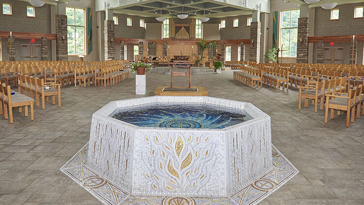 Catholic Church baptismal font