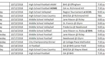 Beth - Revised Athletic Schedule For Glynn County