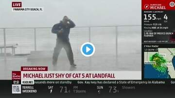 Woody Johnson - Jim Cantore nearly get impaled on 'Live' TV