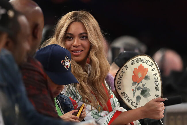 NBA All-Star Game 2017 NEW ORLEANS, LA - FEBRUARY 19: Beyonce attends the 2017 NBA All-Star Game at Smoothie King Center on February 19, 2017 in New Orleans, Louisiana. NOTE TO USER: User expressly acknowledges and agrees that, by downloading and/or using this photograph, user is consenting to the terms and conditions of the Getty Images License Agreement. (Photo by Ronald Martinez/Getty Images)