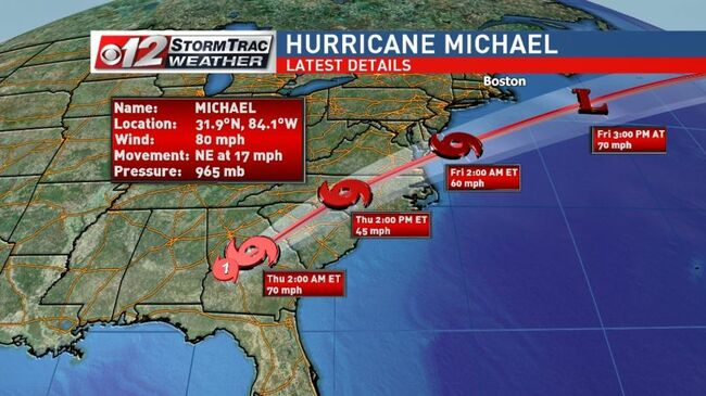 Michael Races Across Georgia As Tropical Storm