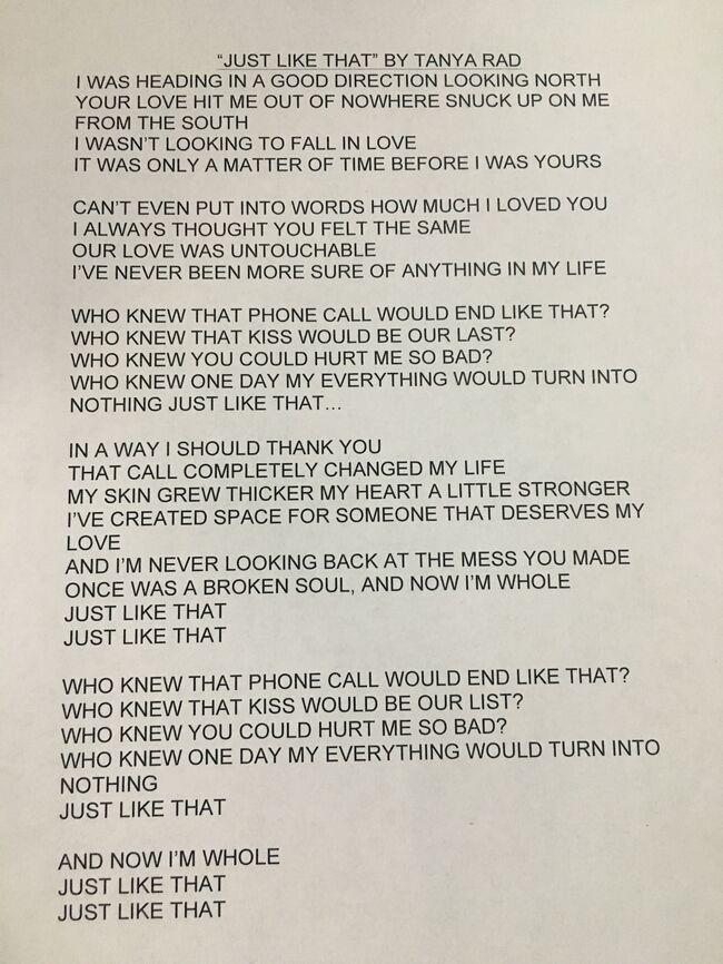 Tanya Rad Uncovers a Breakup Song She Wrote, Ryan Sings It
