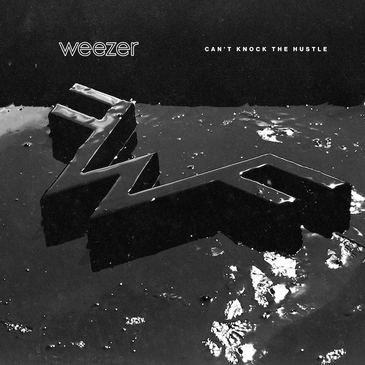 """Weezer - """"Can't Knock The Hustle"""" Single Cover Art"""