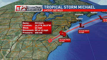 Operation Stormwatch - Tropical Storm Michael drenching the Carolinas