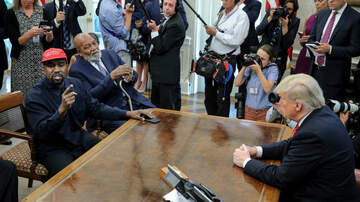 Politics - Kanye West and President Donald Trump Meet in Oval Office