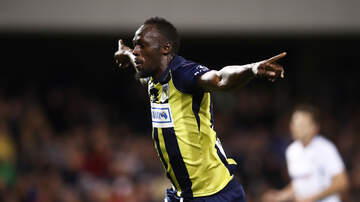 None - Sprinter Usain Bolt Turns Into Soccer Star