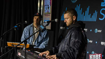 Photos - Marc E. Bassy in the AT&T Thanks Sound Studio at KUBE 93.3 - Performance