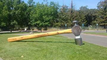 Weird, Odd and Bizarre News - Giant Hammer Stolen From California Community Center
