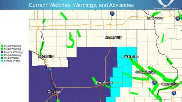 Local News - Freeze and snow in Iowa into Monday MAPS VIDEO