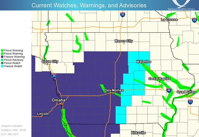 Freeze And Snow In Iowa Into Monday Maps Video 1040 Who