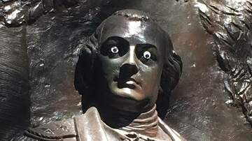 Weird, Odd and Bizarre News - Georgia Police Searching for Vandal Who Put Googly Eyes on Statue