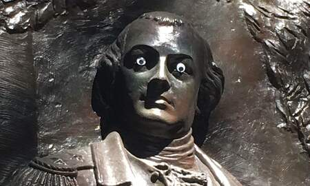 National News - Georgia Police Searching for Vandal Who Put Googly Eyes on Statue