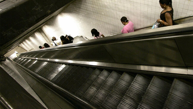 New York City Subway escalator