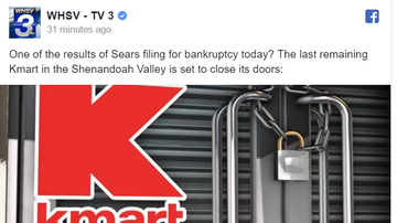 Steve - Sears Filing For Bankruptcy - Final Area K-Mart To Close?