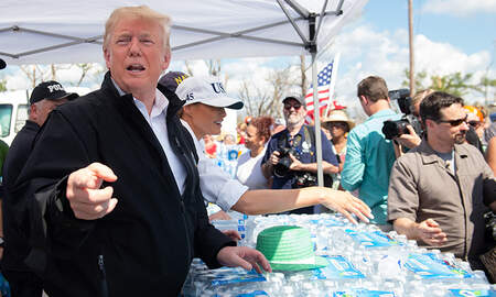 National News - President Trump, First Lady Tour Storm-Battered Florida Panhandle