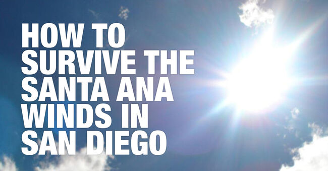 Tips to Survive the Santa Ana Winds in San Diego