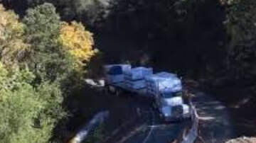 Matty in the Morning - Truck Slides down Mountainside