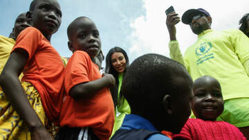 Entertainment News - Kanye West & Kim Kardashian Gift Yeezys To Kids In Uganda