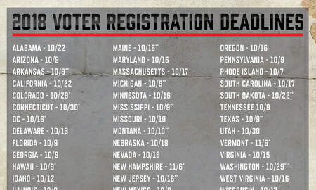 DJ Bee - Yesterday was the last day to register 2 vote online in VA, other states..