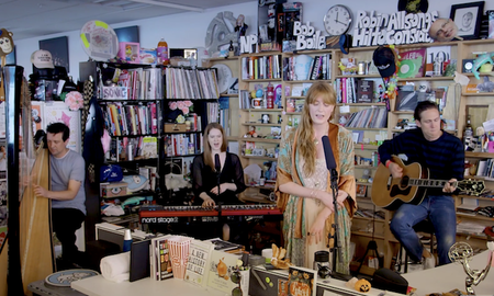 Music News - Florence Welch Shows Her Shy Side During Tiny Desk Concert