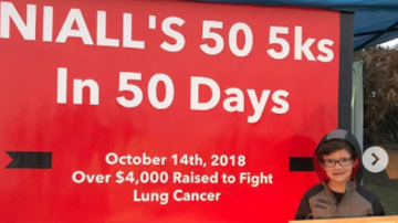 Trevor D in the Morning Show - 10-Year-Old Ran Fifty 5Ks in Fifty Days to Support Grandfather With Cancer