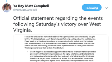 The Morning Rush with Travis Justice and Heather Burnside - Ya Boy Matt Campbell Issues Statement Re: Rushing The Field vs. WVU