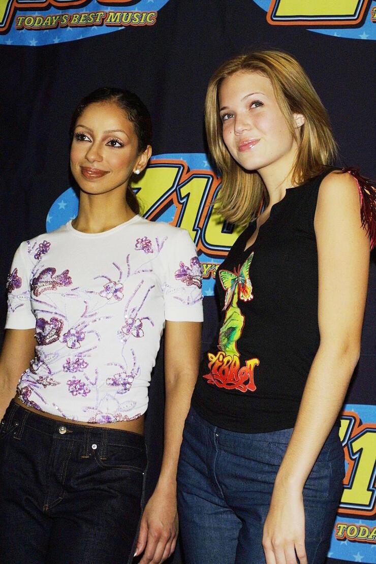 Mya & Mandy Moore at Jingle Ball