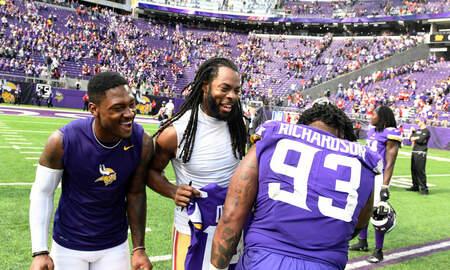 Vikings - Vikings DT Richardson 'all business' against old team Jets | KFAN