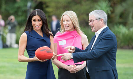 Music News - Meghan Markle Played Australian Football In Stilettos Like A Champ