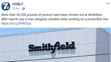 Steve - Smithfield meat plant worker accused of urinating at station