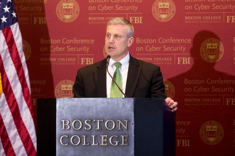 BOSTON, MA - MARCH 06: Harold H. Shaw, FBI special agent in charge of the Boston division, speaks on the threats of state-sponsored digital warfare at Boston College on March 6, 2018 in Boston, Massachusetts. FBI Director Christopher Wray was the keynote speaker at the Boston Conference on Cyber Security on the BC campus. (Photo by Scott Eisen/Getty Image