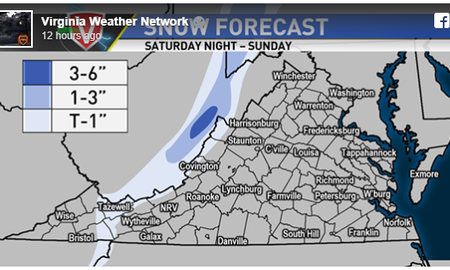 Steve - Snow this weekend for the WVA Mountains?