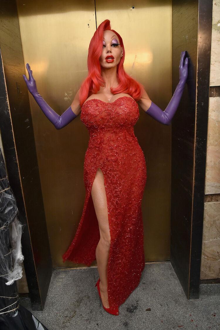 Heidki Klum as Jessica Rabbit on Halloween