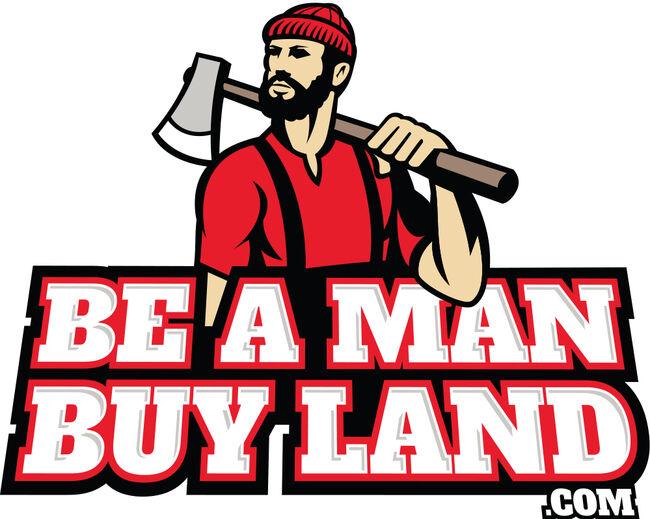 Be A Man Buy Land logo