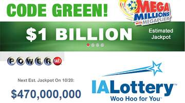 - MegaMillions hits $1,000,000,000 Powerball at $470,000,000
