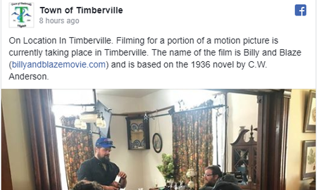 Steve - Movie Filming in Timberville?