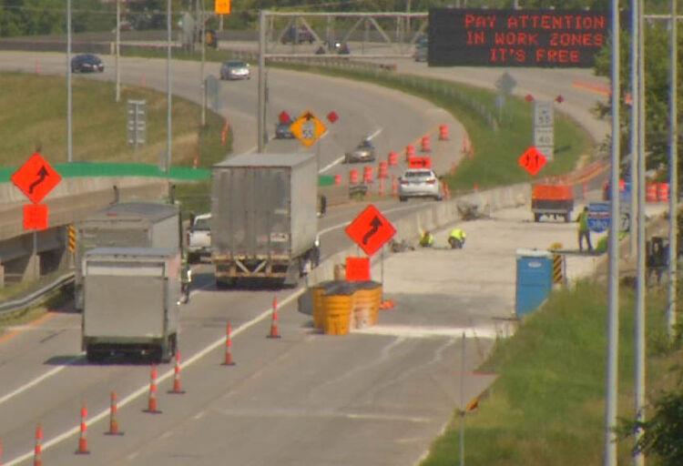 Iowa road construction zone KCRG-TV