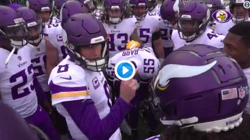Vikings - If you win, WE WIN! Kirk Cousins dropped another great pregame speech