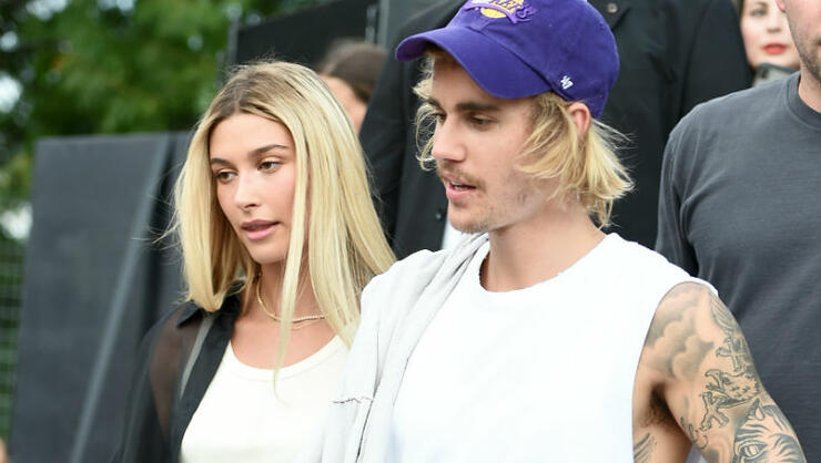Justin Bieber Removes Hailey's Garter With His Teeth In New Wedding Shot   iHeartRadio