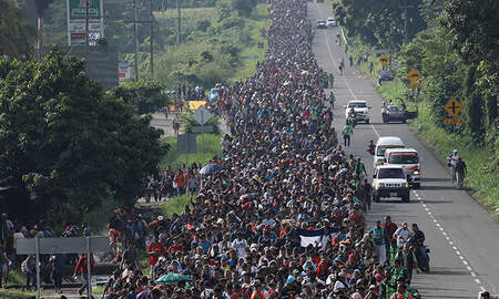 National News - Migrant Caravan Grows As It Approaches U.S. Border