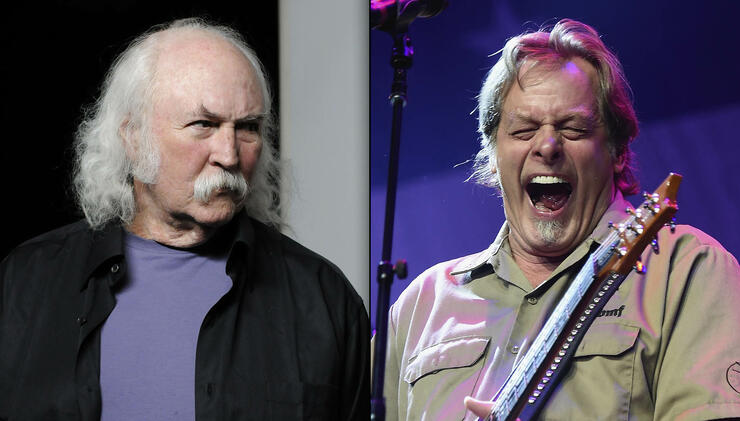 5c42bfba591 David Crosby Disses Ted Nugent as a