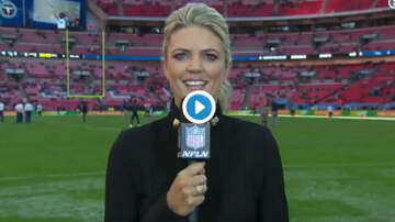 Conrad - NFL Reporter Gets Nailed In The Back Of Head!