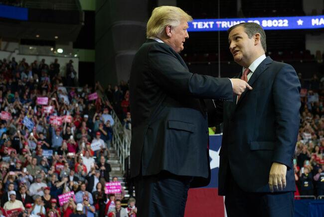 Trump campaigns for Cruz
