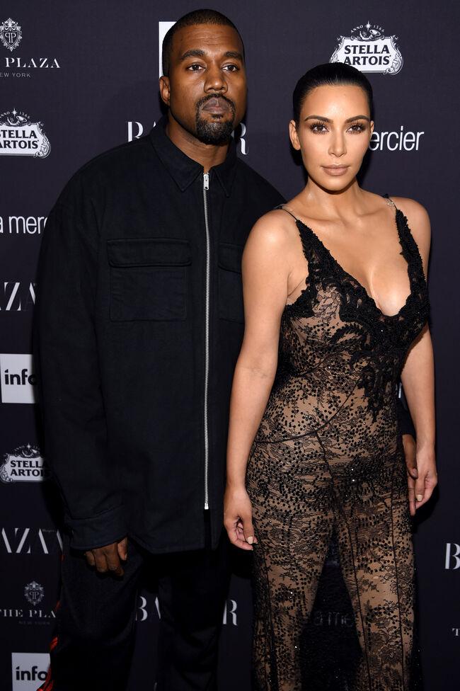 Kim and Kanye West (getty)