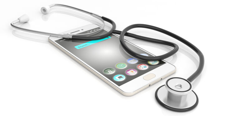 Stethoscope with Smartphone Medical Getty RF